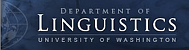 University of Washington Department of Linguistics